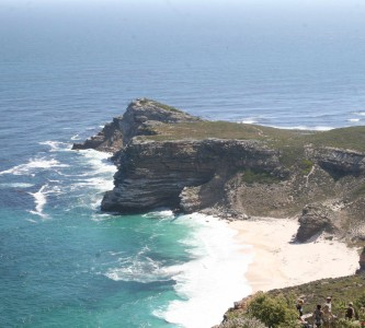 Cape of Good Hope as seen from Cape Point on a Lion of Africa Peninsula Tour