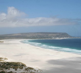 Noordhoek Beach as seen on a Lion of Africa Peninsula Tour from Chapmans Peak Drive